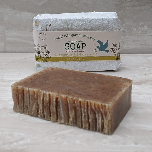 Lemongrass & Jojoba Seeds Handmade Soap. Made with Shea Butter.