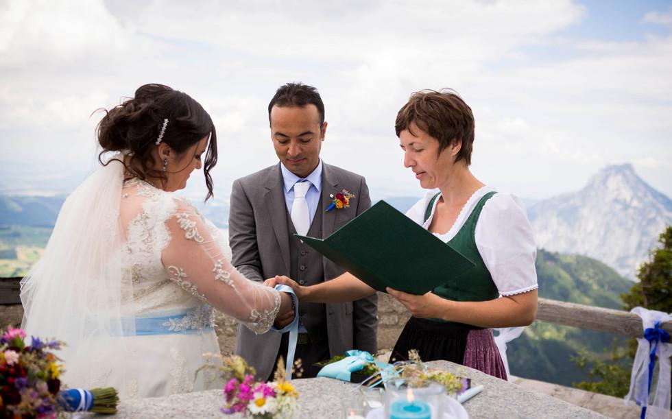 Wedding on a mountain top