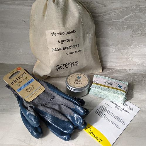 Father's Day Gardening Gift Sack. Handmade Soap, Foot Cream, Mens  Gardening Glo