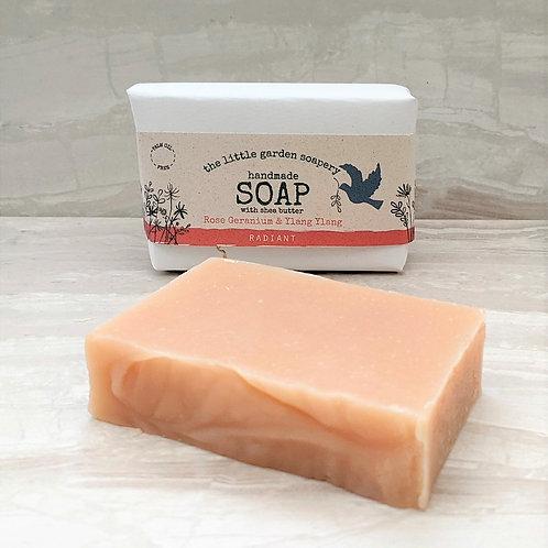 Rose Geranium & Ylang ylang Handmade Soap. Made with Shea Butter.