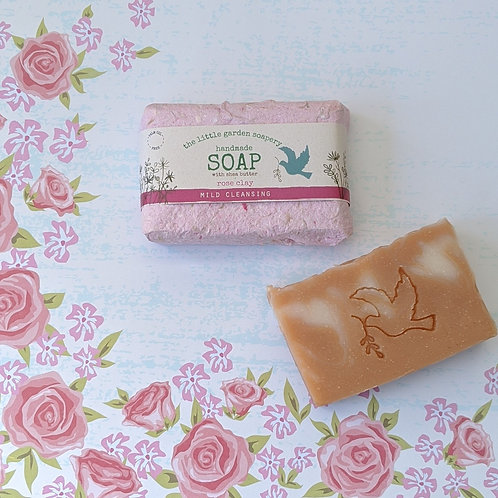 Rose Clay Handmade Soap. Made with Shea Butter.