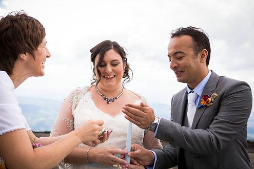 wonderful wedding ceremony on te mountain top