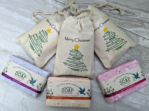 Soap in a Christmas Gift Sack