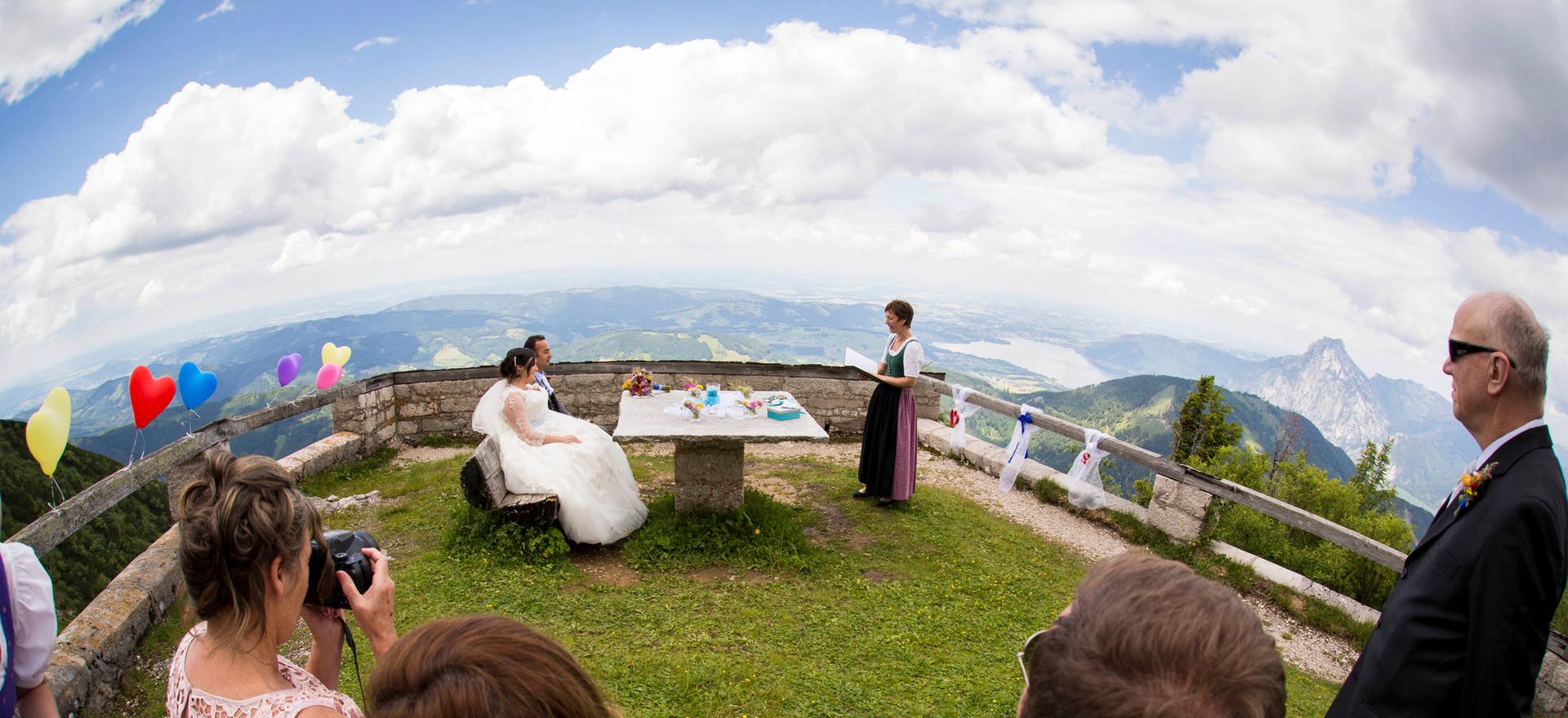 Hochzeit am Berg