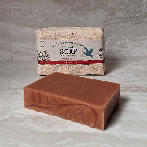 Cedar Clay Handmade Soap. Made with Shea Butter.