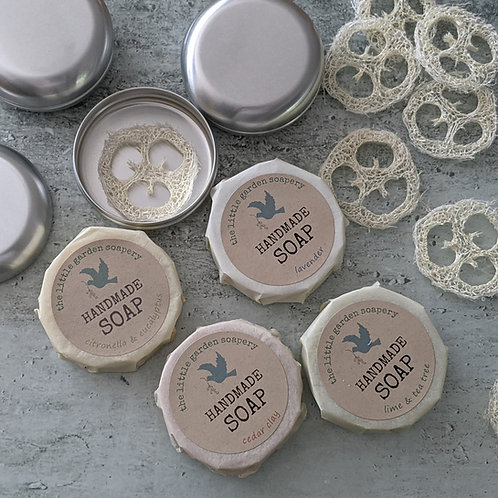 Handmade Soap in a  Handy Travel Tin. Choice of Fragrances
