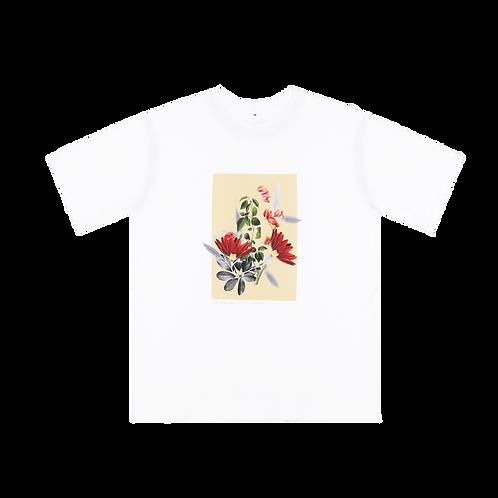 Mustard Floral Collage Shirt