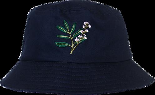 Navy Botanical Bucket Hat