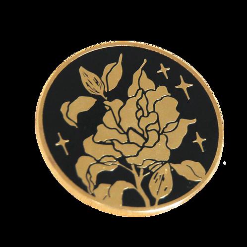 Round Magnolia Pin