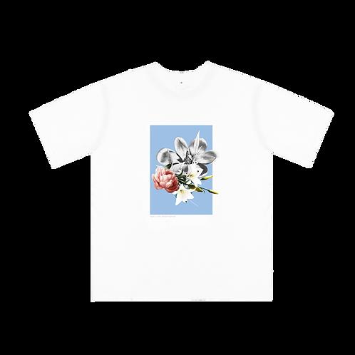 Sky Blue Floral Collage Shirt