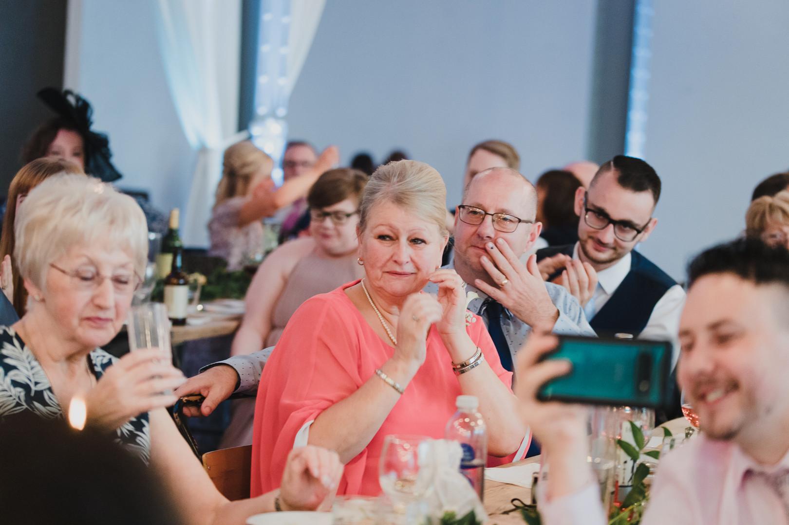 candid family portraits wedding photo