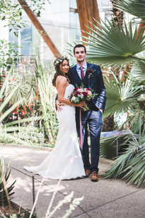 winter gardens sheffield wedding photos