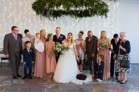 trafalgar warehouse group photos wedding