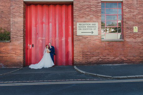 creative sheffield wedding photography in the city centre,  , trafalgar warehouse, yorkshire
