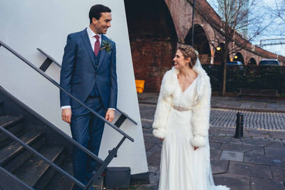 manchester castlefield creative wedding photography,