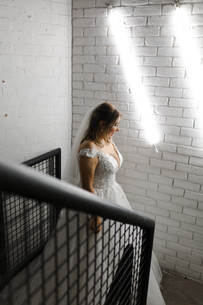 bride photos in trafalgar warehouse, south yorkshire