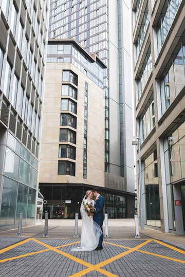 sheffield city centre wedding, city centre wedding photography, urban wedding photography, bride groom, south yorkshire, west yorkshire