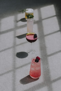 group photo of cocktails