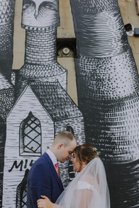 sheffield graffiti and wedding photos phlegm, urban wedding, trafalgar warehouse
