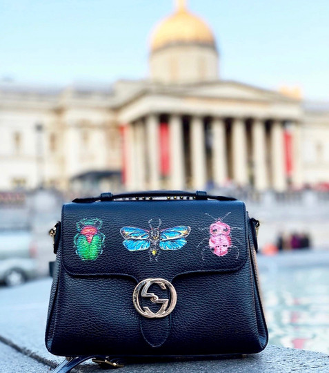 Custom Gucci at London's National Gallery