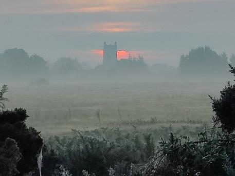 Sunrise at Wobbly Church