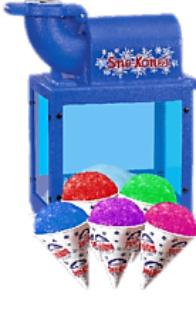 snow cone machine-concessions carnival g