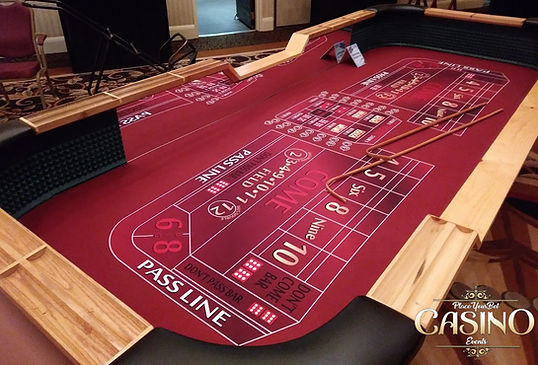 Buy or Rent Craps Table - Casino Party Equipment