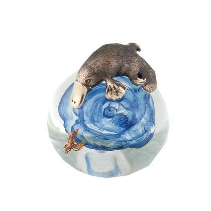 Platypus and Yabbie on Glass