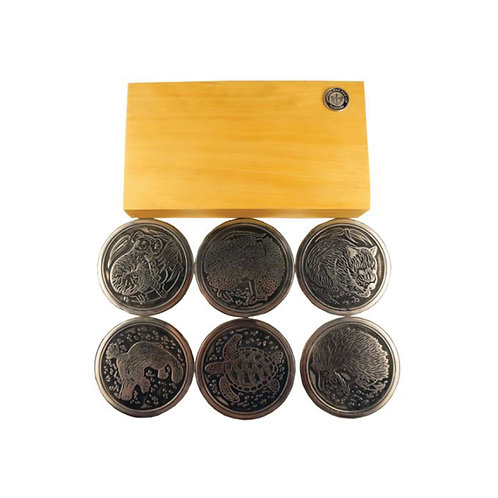 Drink Coasters Boxed Animal