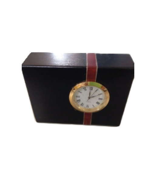 Inlaid Oblong Clock