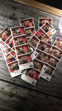 Freshly printed photo strips!