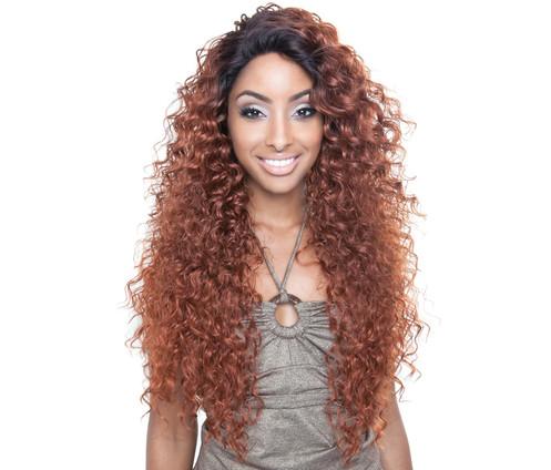 Brown Sugar Human Hair Blend Seamless Lace Wig Tahiti