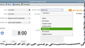 Tracking Time in QuickBooks, Part 2