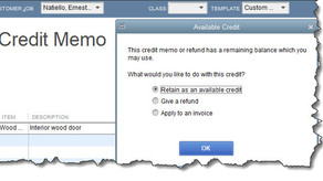 Issuing Credit Memos and Refunds in QuickBooks