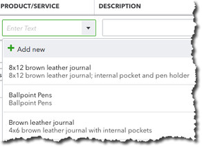 Using Product and Service Records in QuickBooks Online