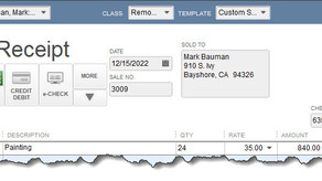 Sales Receipts, Invoices, and Statements in QuickBooks