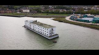 Exploring Abandoned Floating Hotel!