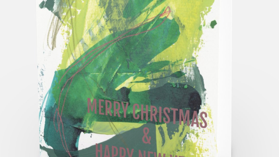 """Merry """" Lets be green """" Christmas - ART CARD"""