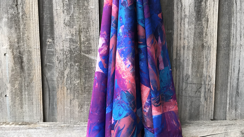 Purple and Blue - ART SCARF