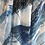 Thumbnail: Blue Scribble - ART SCARF