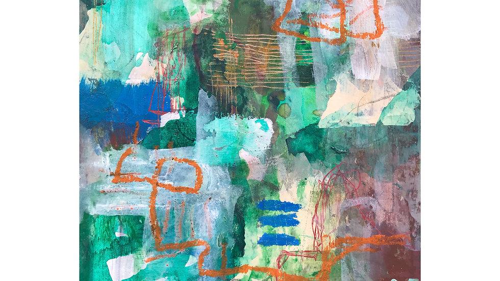 """"""" Green with Envy """" Framed Original Artwork"""
