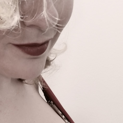 Peeking through my lashes...