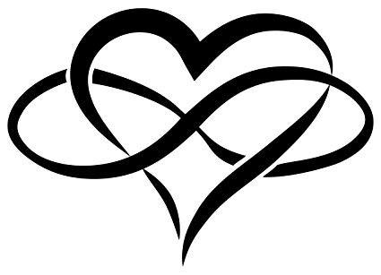 Infinity Heart - Interlocking infinity symbol with heart