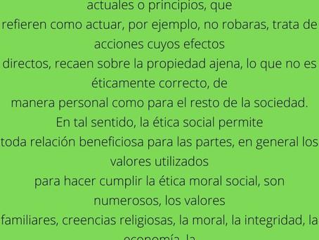 ÉTICA SOCIAL.