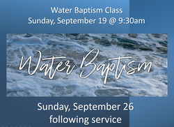 Water Baptism 9-21