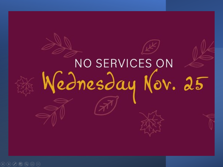 No Service 11-25