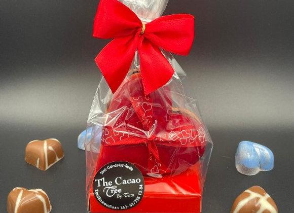 Chocolade hartje gevuld