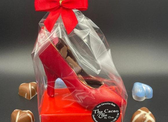 Chocolade schoen met pralines