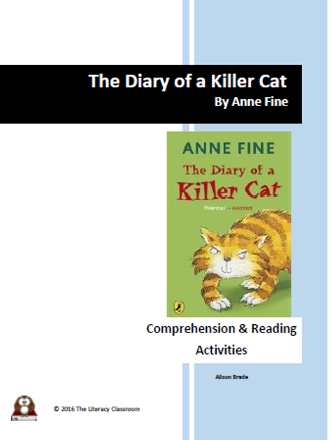 The Diary of a Killer Cat by Anne Fine Comprehension and Reading Activities