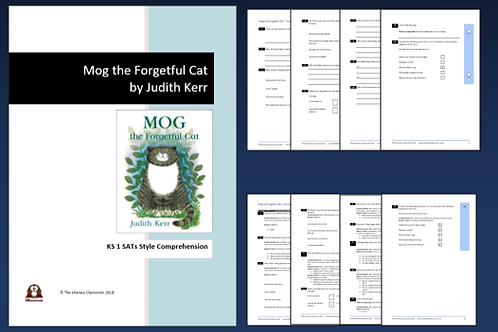 Mog the Forgetful Cat by Judith Kerr. KS 1 SATs style comprehension